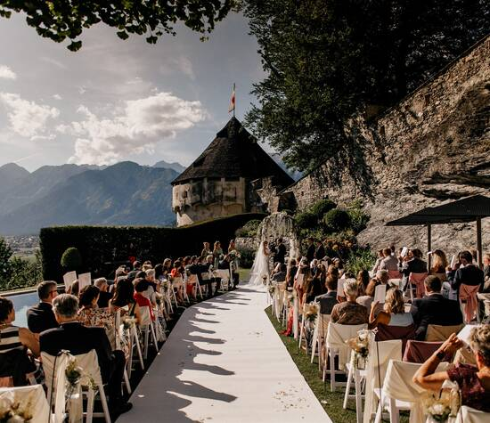 American wedding in the Alps