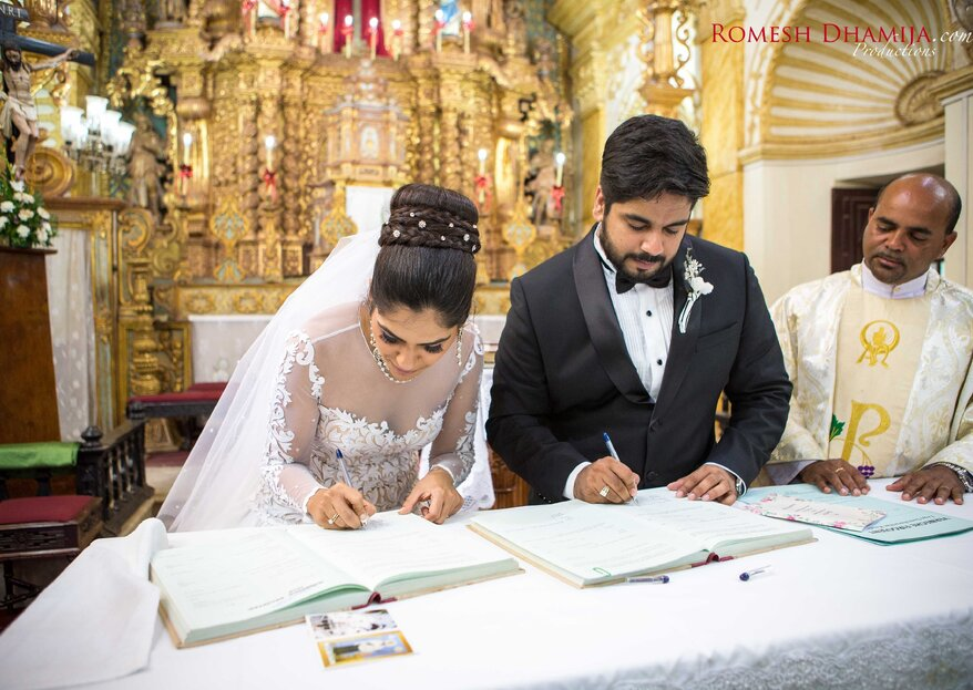 Nisha and Reynold's Fairytale Church Wedding in Goa