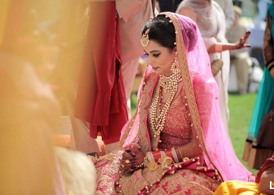 Tania and Vaibhav´s Real Palace Wedding in India